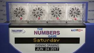 Evening Numbers Game Drawing: Saturday, June 24, 2017
