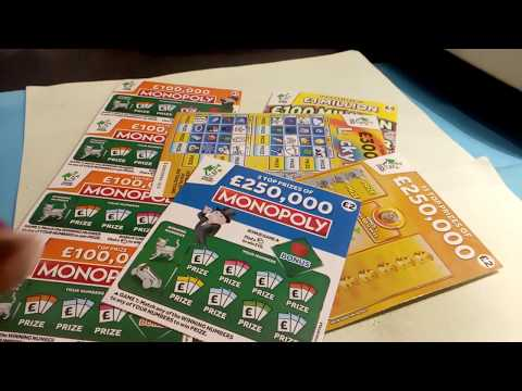 Scratchcard Monday....with Little Piggy...MONOPOLY...CASH SPECTACULAR..250K..LUCKY LINES