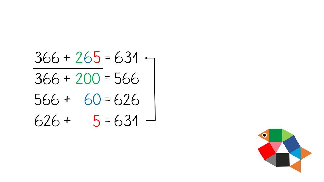 Halbschriftliche Addition im Tausenderraum Teil 20 / Mathe lernen in  Klasse 20 / einfach schlau üben
