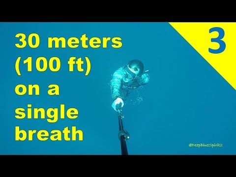 Freediving | 30 meters (100 feet) on a single breath