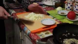 Кальмары фаршированные креветками