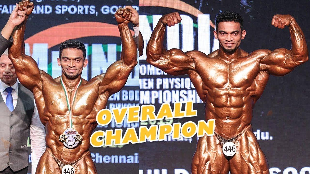 Sunit Jadhav Wins Ibbf Mr India 2019 Overall Title Youtube