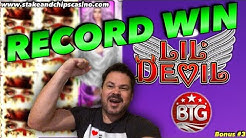 my RECORD WIN !! SUPER MEGA HIT !!  LIL DEVIL SLOT ❤️ HEARTSTOPPER !!! Online Casino Heart Bonus #3