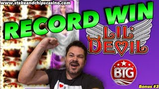 RECORD WIN !! SUPER MEGA HIT ❤️ LIL DEVIL SLOT ❤️ Online Casino Heart Bonus #3