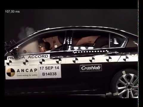ANCAP CRASH TEST: Honda Accord (Aug 2014   Onward) Scored The Maximum 5  Star ANCAP Safety Rating   YouTube