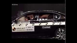 ANCAP CRASH TEST: Honda Accord (Aug 2014 - onward) scored the maximum 5 star ANCAP safety rating