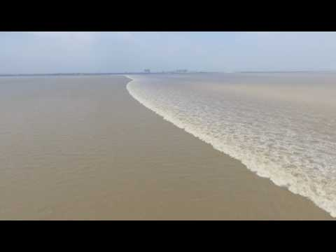 Tidewater of Qian River in China