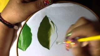 2- pintura en tela hoja con cony
