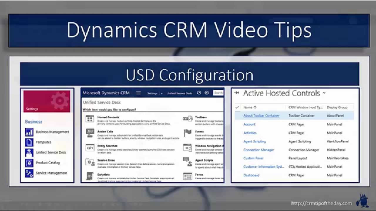 Dynamics Crm Unified Service Desk Hosted Controls Youtube