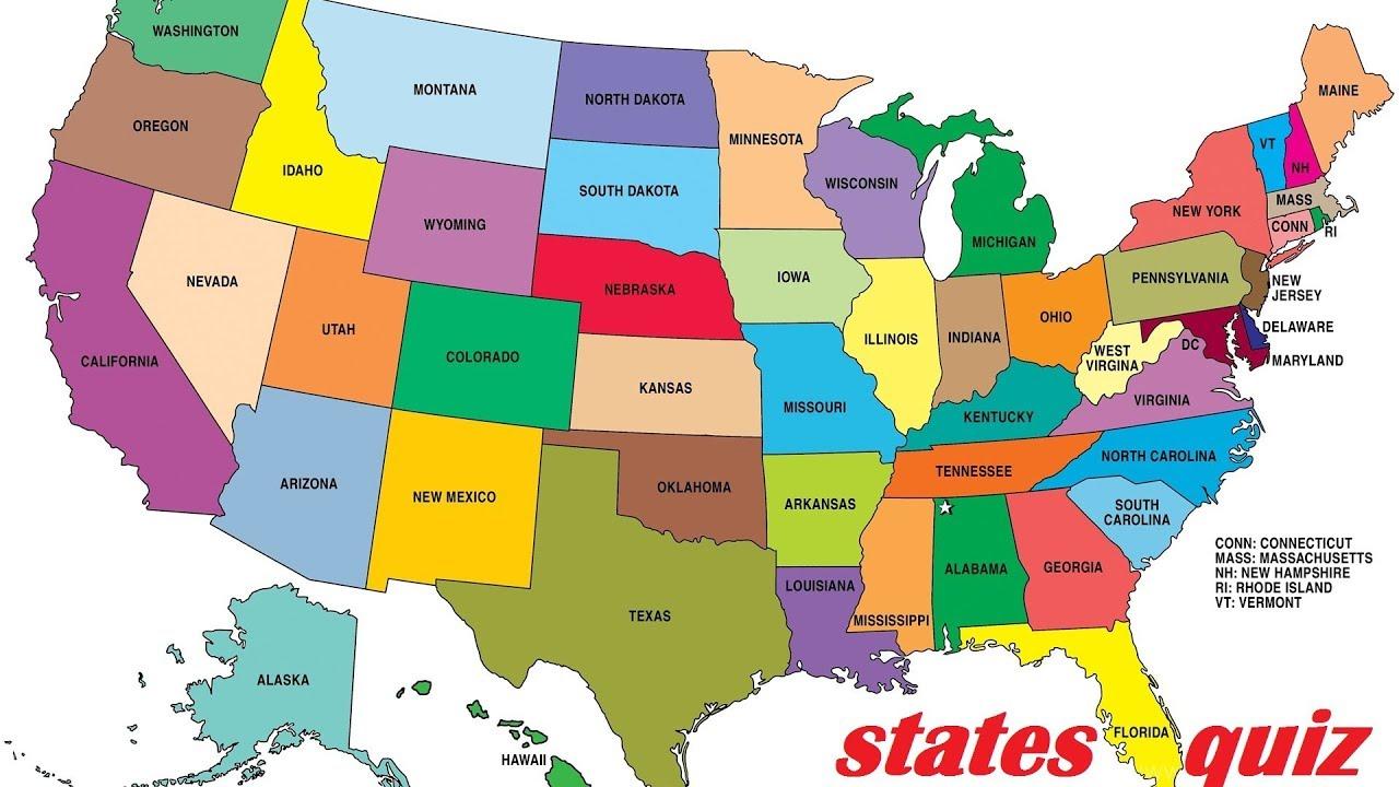 50 states quiz - quizing #1 - YouTube on