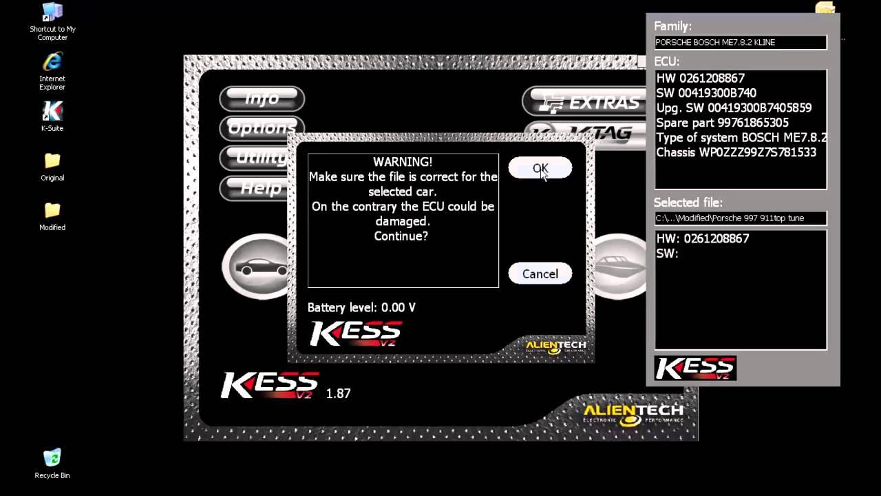 Kess v2 writing by topgear tuning