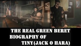 THE REAL GREEN BERET, BIOGRAPHY OF TINY - COMMANDOS