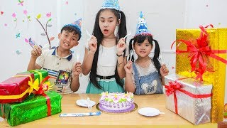 Kids Go To School | Day Birthday Of Chuns Children Make a Birthday Cake Lovely Gifts
