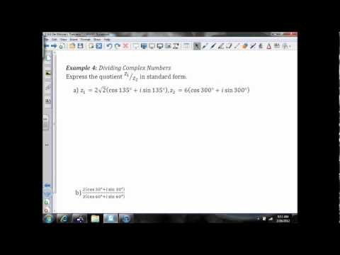 6.6 DeMoivre's Theorem and nth Roots (Examples 3-4).wmv