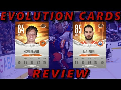 NHL 18 HUT- Evolution Cards REVIEW #2 (Cam Talbot, Richard Rakell)