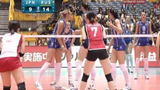 2010 Women's Volleyball World Championship Japan vs Russia Set2