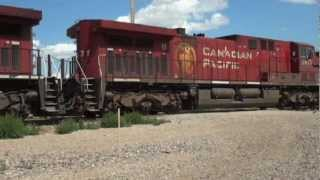 CP Rail - Canadian Pacific Railway Brooks Subdivision Railfanning - July 29, 2012