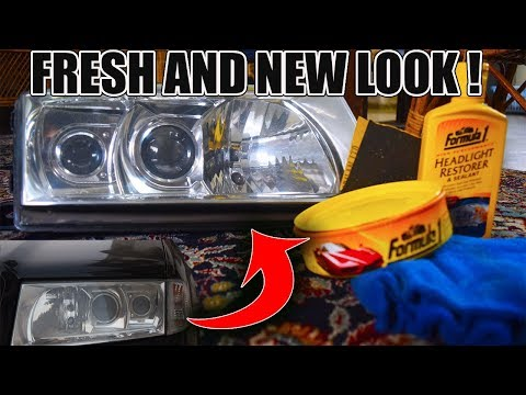 DIY Restoring Headlights ! / How to clean yellow and faded headlights at home !!
