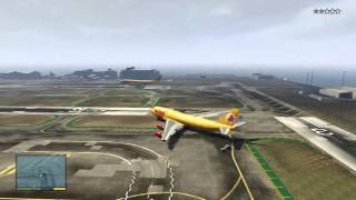 GTA V: How To Get To The Airport & Fly A JUMBO JET! (INCLUDING CRASHES)