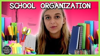HOW I STAY ORGANIZED FOR SCHOOL!