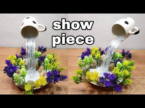 How to make beautiful cup waterfall fountain show piece