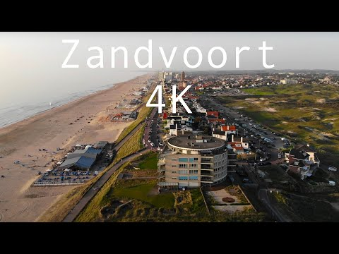 Flying over Zandvoort, The Netherlands in 4K