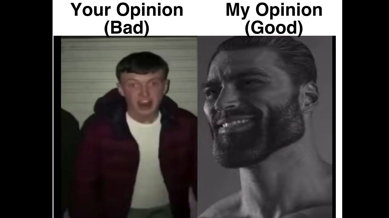 your opinion vs my opinion - YouTube