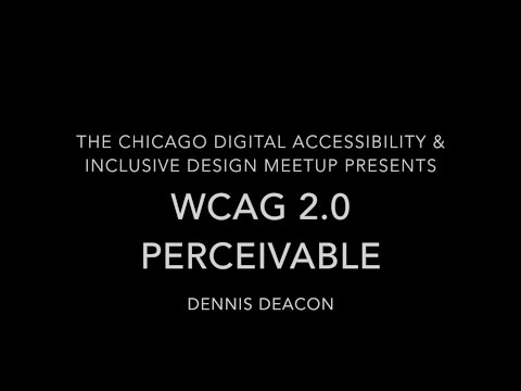 WCAG 2.0 - Perceivable