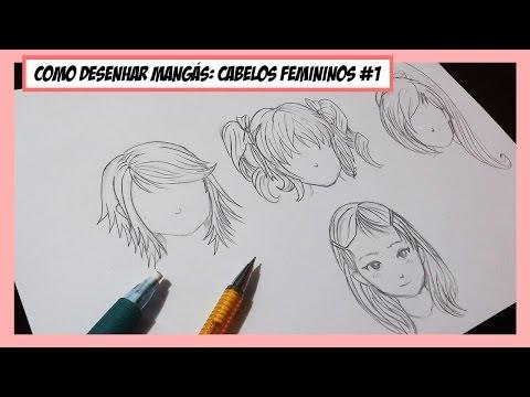 Como Desenhar Manga Cabelos Femininos E Simetria 1