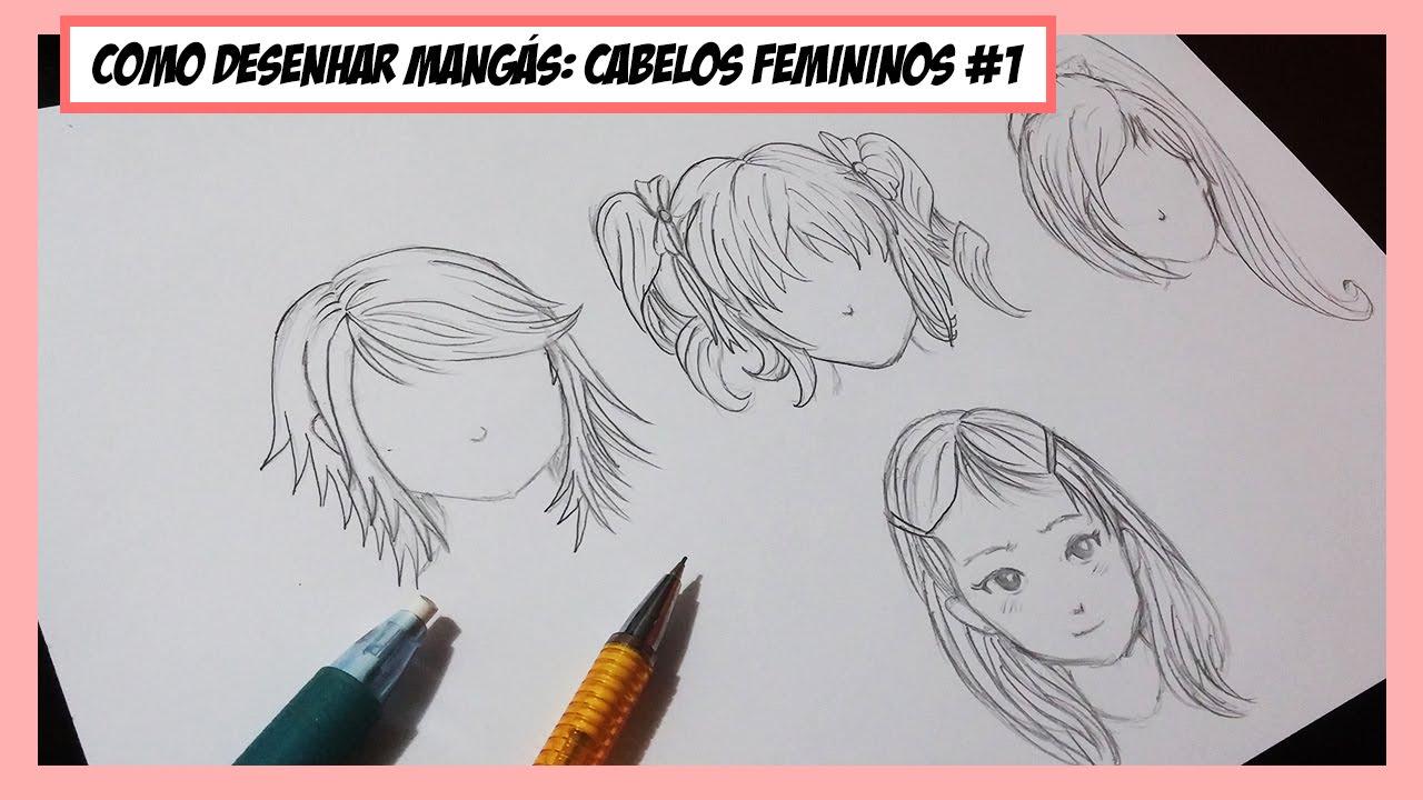 Como Desenhar Manga Cabelos Femininos E Simetria 1 Youtube