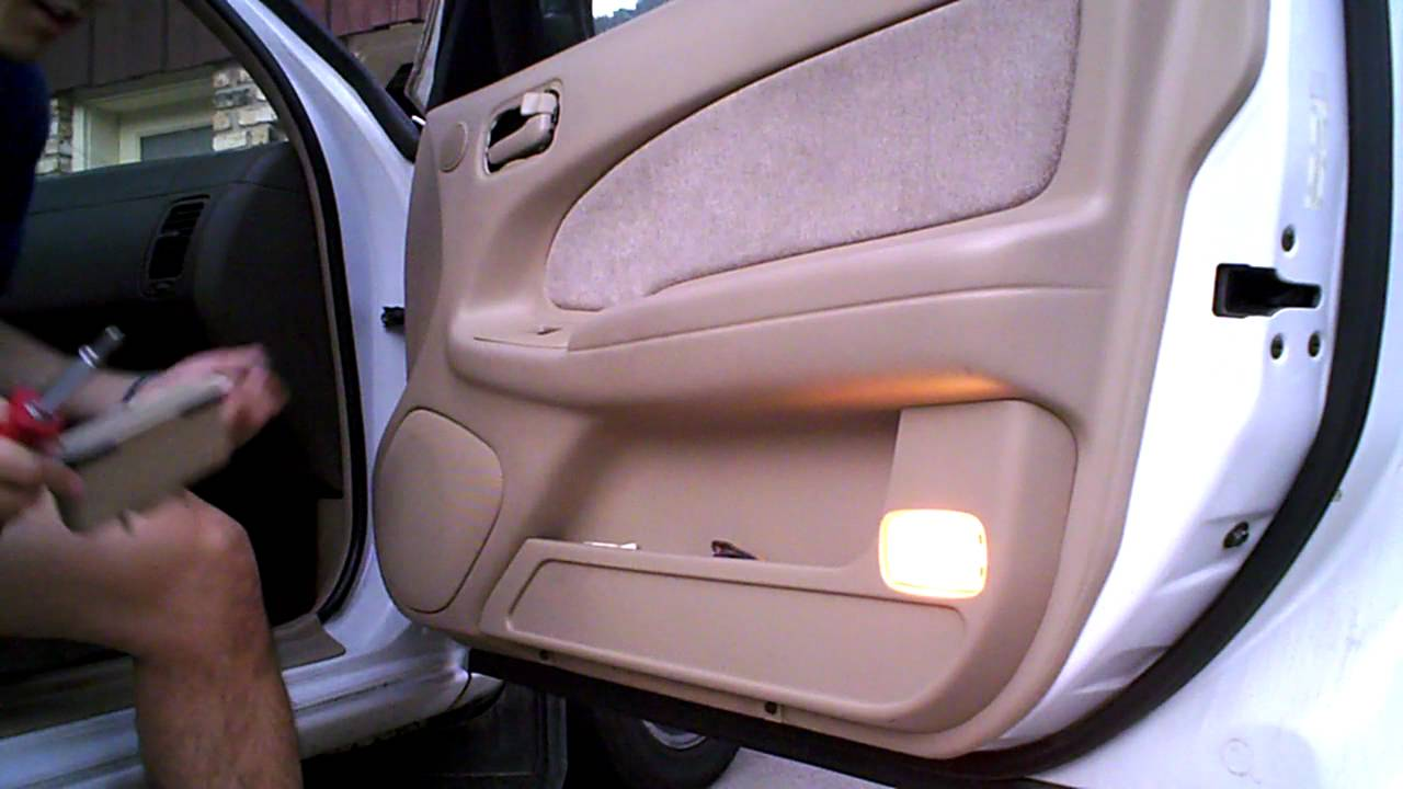 diy: 1996 nissan maxima (1995-1999) v6 passenger door panel removal mirror  replacement by onza04 - youtube