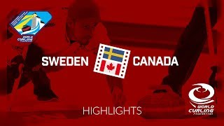 HIGHLIGHTS: Sweden v Canada - Men - Round-robin - World Junior Curling Championships 2019