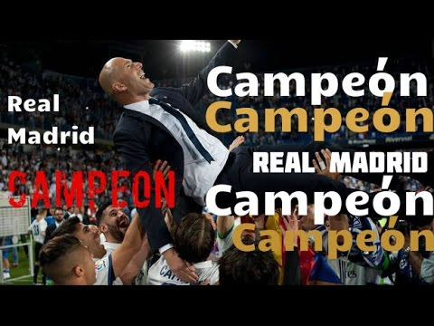 Campeon R.Madrid, Así fue el Festejo de Real Madrid tra Campeonar LaLiga Santander 21/05/2017