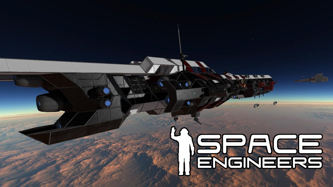 Space Engineers Komodo Guided Missile Destroyer Long
