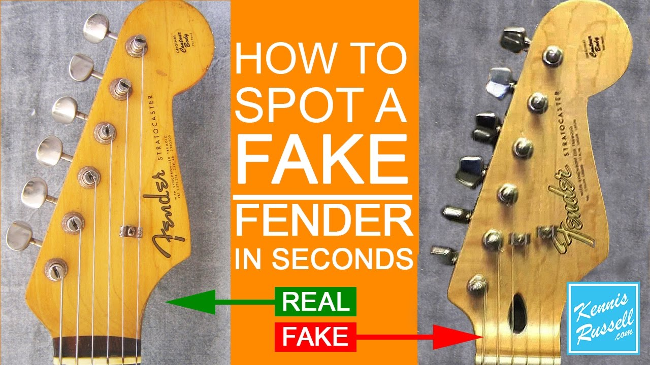 how to spot a fake fender in seconds youtube. Black Bedroom Furniture Sets. Home Design Ideas