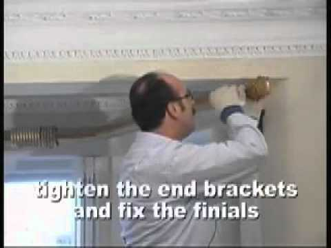 Curtain Rods 5 sided bay window curtain rods : How to fit Bay Window Curtain Poles - Part 3 - YouTube