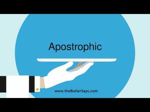 "Learn how to say this word: ""Apostrophic"""