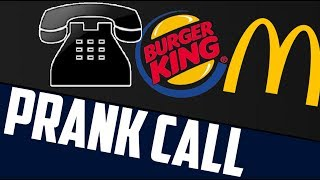 Burger King Calls McDonalds Prank Call