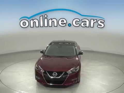 C14525TA Used 2018 Nissan Maxima Platinum FWD 4D Sedan Red Test Drive, Review, For Sale