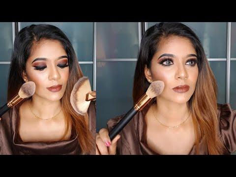 Brown smokey eyes full glam tutorial   RajiniSrisha thumbnail