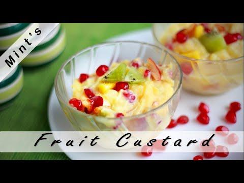 Fruit Custard Recipe in HIndi – Indian Vegetarian Recipes – Dessert Recipes – Ep-175