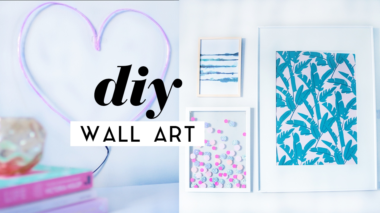 diy art projects diy wall room decor pieces gallery wall ideas 2017 31183