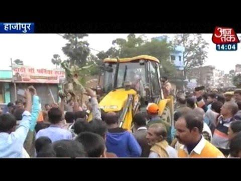 Hajipur, Bihar: Mob, Cops Clash During Temple Demolition