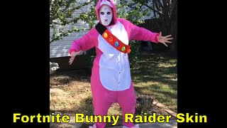 Fortnite Rabbit Raider Skin in Real Life - Easy Fortnite Costume!