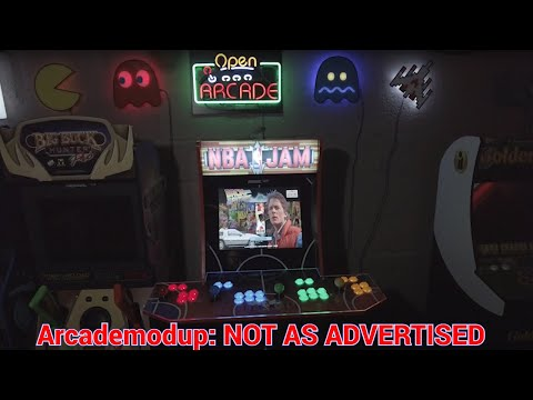 ArcadeModUp 4 Player Arcade1up Kit NBA Jam Cabinet Mod Review - NOT Exactly As Advertised from UrGamingTechie