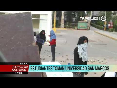 Grupo de estudiantes toma la Universidad de San Marcos