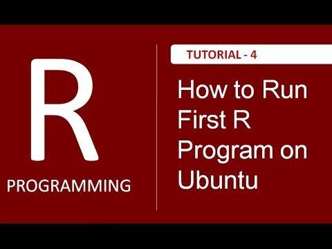 How to run First R Program in Ubuntu Using Terminal