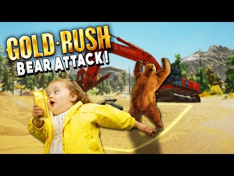 Bear Attacks Workers While Digging For Big Gold- Gold Rush The Game