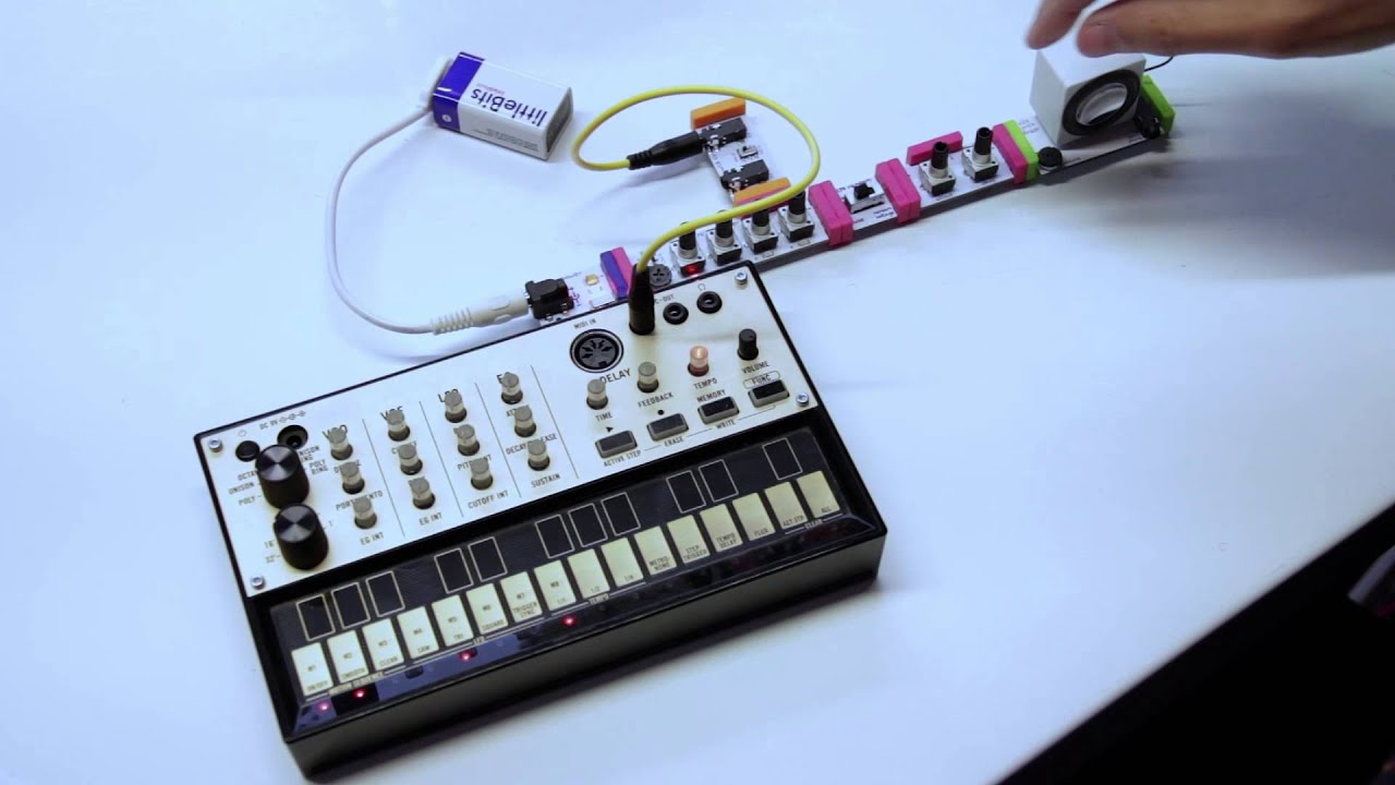 sequencing the littlebits synth kit with the korg volca keys youtube. Black Bedroom Furniture Sets. Home Design Ideas