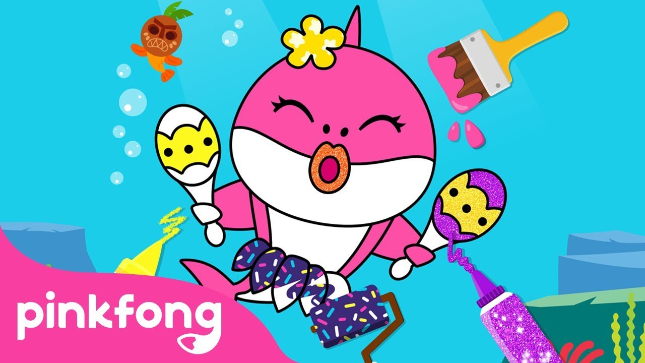 Pinkfong Baby Shark Coloring Book | Game Play | Pinkfong Game | Pinkfong  Kids App Games